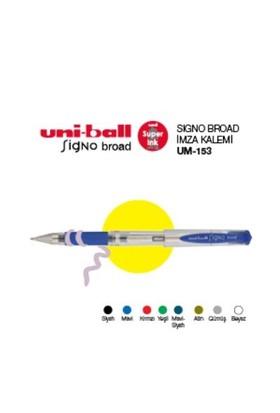 Uni-Ball Um-153 Beyaz Broad Jel Kalem