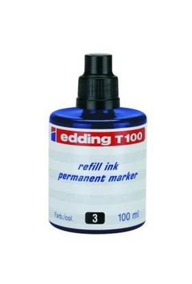 Edding T100 Mavi Permanent Mürekkep 100Ml