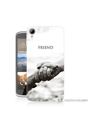 Bordo Htc Desire 828 Kapak Kılıf Hayat Yolu Baskılı Silikon