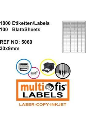 Multiofis 30X9 Mm Laser Etiket 5060