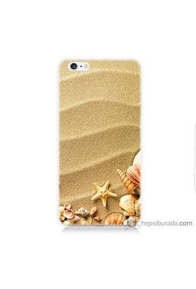 Bordo iPhone 6 Kapak Kılıf Deniz Yıldızı Baskılı Silikon