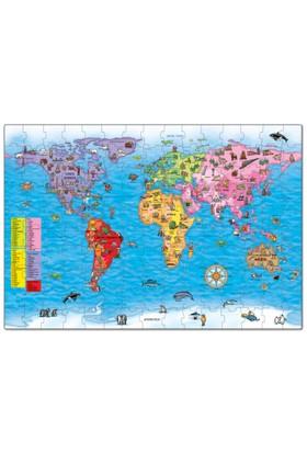 Orchard Dev Dünya Haritası (5-10 Yaş / Puzzle ve Poster)