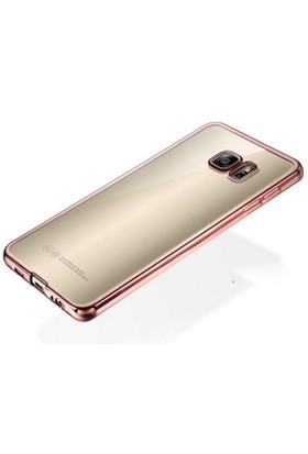 Samsung S7 Edge Siyah Renkli Yumuşak Şeffaf Kılıf cin32sy