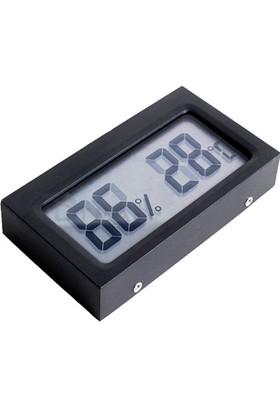 Dijital Büyük Harfli Ufak Sıcaklık, Nem ölçer Saati ca72x