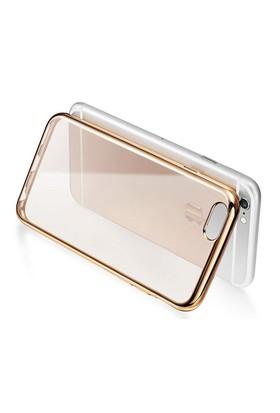 Iphone 6 Altın Renkli Gold Yumuşak Şeffaf Kılıf cin12