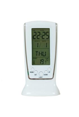 Saatli İç Mekan Termometre,Işıklı,Alarm thr109