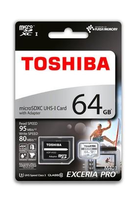 Toshiba 64Gb (95-80Mbsn) Excerıa Pro Microsdxc U3 Thn-M401S064E2