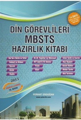 Din Görevlileri MBSTS Hazırlık Kitabı - Ferhat Erdoğan