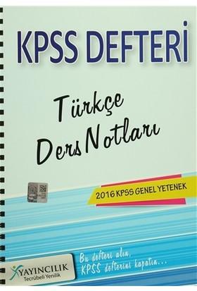 2016 KPSS Genel Yetenek Türkçe Ders Notları Defteri