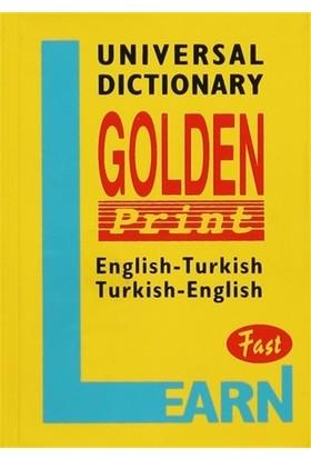 Universal Dictionary Golden Print English-Turkish Turkish-English Fast