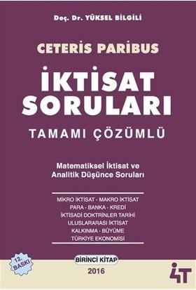 Ceteris Paribus - İktisat Soruları Tamamı Çözümlü (2 Kitap Takım) - Yüksel Bilgili