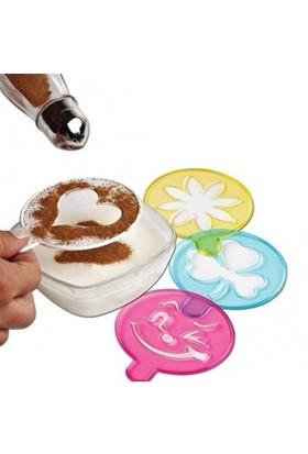 Buffer Sevimli Pasta Tatlı Süsleme Şablonu 4'Lü