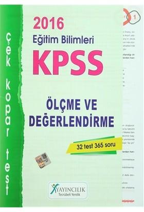 2016 KPSS Eğitim Bilimleri Ölçme ve Değerlendirme Çek Kopar Test
