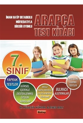 7.Sınıf Arapça Test Kitabı