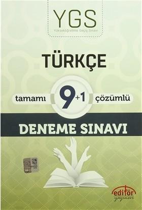 YGS Türkçe Tamamı Çözümlü 9+1 Deneme Sınavı - Zafer Meşe