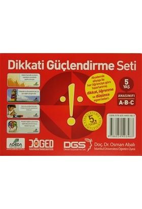 Adeda - DGS Dikkati Güçlendirme Seti Anasınıfı 5 Yaş (3 Kitap) - Osman Abalı