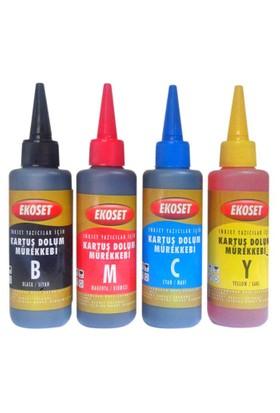 EkosetCanon Pg-510, Cl-511 Uyumlu 4 Renk Mürekkep 4X100Ml