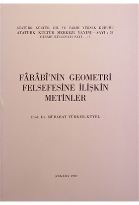 Farabi'nin Geometri Felsefesine İlişkin Metinler