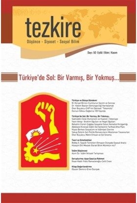 Tezkire Dergisi Sayı: 50 Düşünce, Siyaset ve Sosyal Bilim
