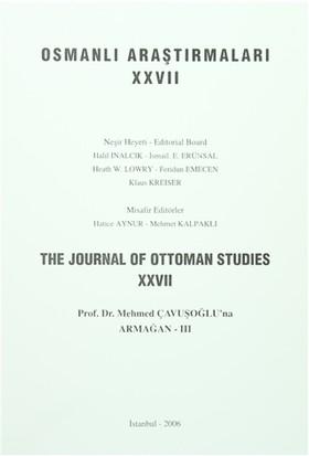 Osmanlı Araştırmaları - The Journal of Ottoman Studies Sayı: 27