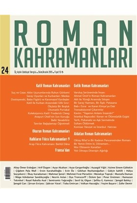 Roman Kahramanları Dergisi Sayı : 24 Ekim-Aralık 2015
