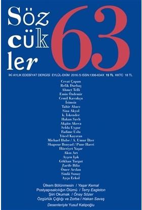 Sözcükler Dergisi Sayı : 63 Eylül - Ekim 2016