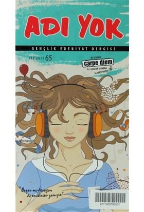 Adı Yok Gençlik Edebiyat Dergisi Sayı: 65