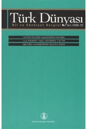 Türk Dünyası Dil ve Edebiyat Dergisi Sayı: 22