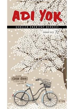 Adı Yok Gençlik Edebiyat Dergisi Sayı: 72