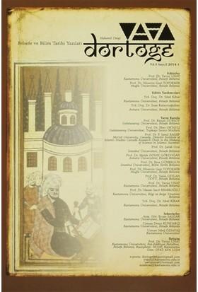 Dörtöğe Felsefe ve Bilim Tarihi Yazıları Hakemli Dergisi Sayı: 5 Yıl: 3