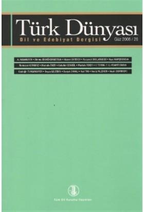 Türk Dünyası Dil ve Edebiyat Dergisi Sayı: 26