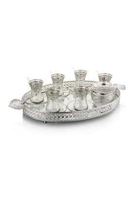 Pierre Cardin Mirenda Silver 39 Parça 12 Kişilik Çelik Çay Takımı