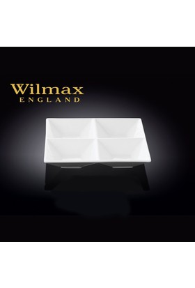 Wilmax 4 Bölmeli Kare Tabak, 20,5*20,5Cm.