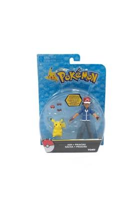 Pokemon Pokemon Ash Ve Pikachu 2Li Figür Set
