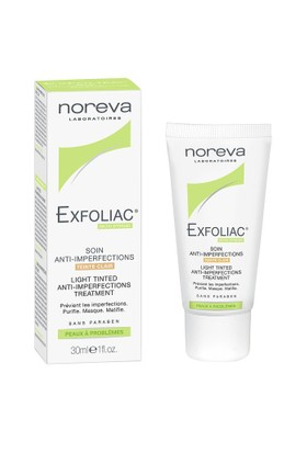 Noreva Exfoliac Light Tinted Anti-İmperfection Treatment 30Ml - Renkli Kapatıcı Akne Bakımı