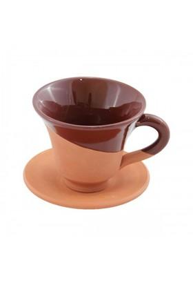 Toprak Kahve Fincanı Kahverengi Sırlı