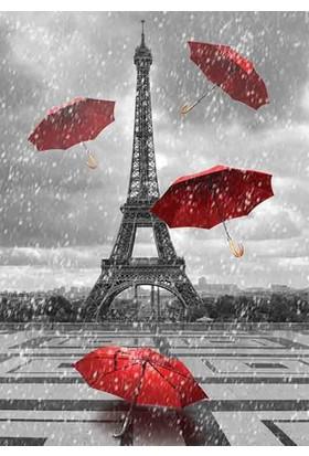 Gold Puzzle 1000 Parça Eyfel Kulesi ve Uçuşan Şemsiyeler
