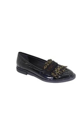 Oflaz K-1001 Kadın Günlük Taşlı Babet Ayakkabı