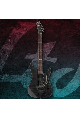 Esp Ltd M-100 Flamed Maple See Thru Black Elektro Gitar