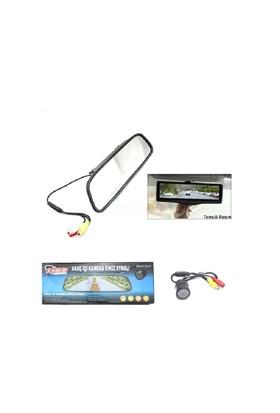 Carub Ekran İç Ayna Ve Gece Görüş Kamerası 12V 28,5Cmx7Cm