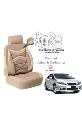 Süslenoto Honda Civic 2012 Ve Sonrası Bej Oto Koltuk Kılıfı Ortopedik