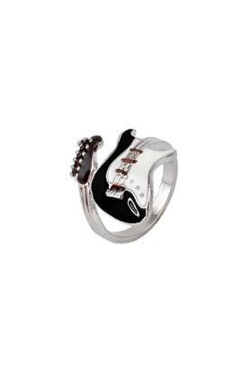 Hediyelik Gitar Yüzük Nikel Kaplama NGR16