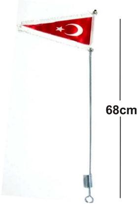 Süslenooto Bayrak Direği Püsküllü Metal Gövde Boy:68Cm