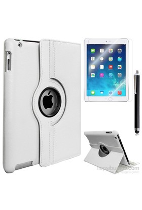Kılıfland Apple İpad 4 Retina Kılıf 360 Standlı +Film+Kalem