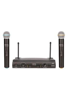 Notel Not 700Ee Telsiz Mikrofon Kablosuz Uhf Band Çift El