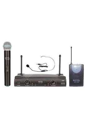 Notel Not 700Ey Telsiz Mikrofon Kablosuz Uhf Band El + Headset