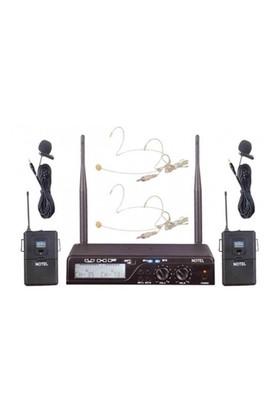 Notel Not 800Yy Telsiz Mikrofon Kablosuz Uhf Çift Yaka + Çift Headset
