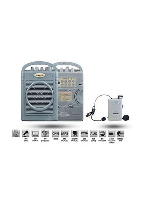 Osawa Osw-8102Y Seyyar Portatif Amfi Yaka Mikrofonlu