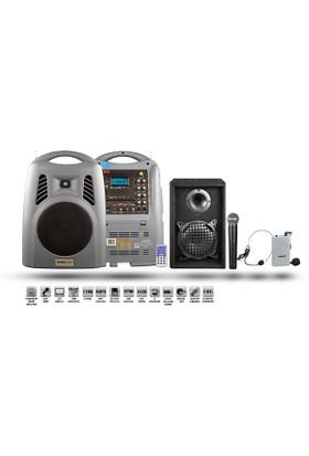 Osawa Osw 8180 Portatif Seyyar Ses Sistemi + Ek Hoparlör