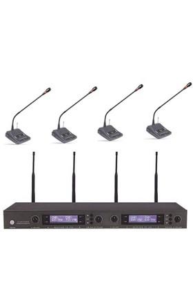 Roof R621 4'lü Kablosuz Kürsü Mikrofonu